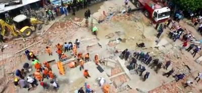 Los organismos de Socorro continúan con las labores de rescate.