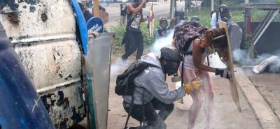 La oposición venezolana intentó marchar desde más de treinta puntos de Caracas hasta la sede del CNE