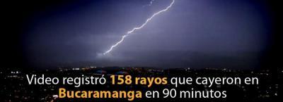 Video registró 'sinfonía' de 158 rayos que cayeron en Bucaramanga