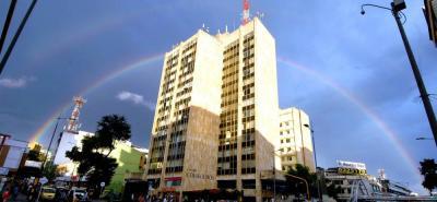 El arco iris que se robó la atención de los bumangueses este miércoles