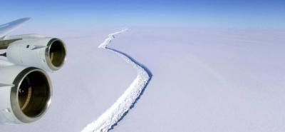 Gigantesco y pesado iceberg se desprendió de la Antártida