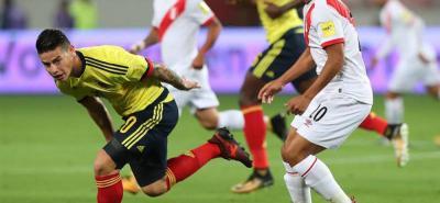 Reviva el gol de James Rodríguez con el que Colombia vence a Perú
