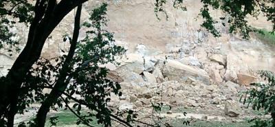 Alerta por nuevo desprendimiento de tierra sobre el Río de Oro