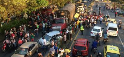 Grave accidente dejó numerosos vehículos estrellados en Piedecuesta