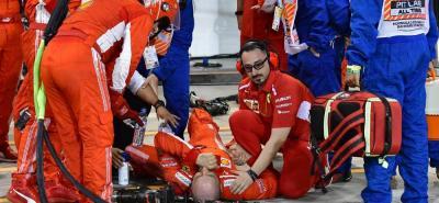 Video registró momento en que Raikkonen atropelló a uno de sus mecánicos