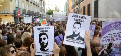 Protestas en España por libertad de 'La Manada', condenados por caso de abuso sexual