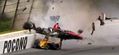 Así fue el espectacular accidente de Robert Wickens en la Indycar