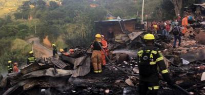Grave incendio consume varias casas en el Norte de Bucaramanga
