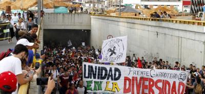 En desmanes terminó marcha universitaria en Bucaramanga