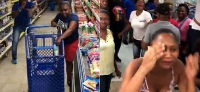 Así malgastó un minuto de mercado gratis una mujer en el Chocó
