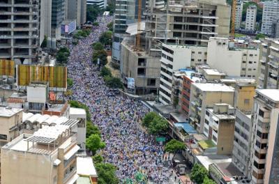 Imágenes de la marcha de los venezolanos en contra de Nicolás Maduro