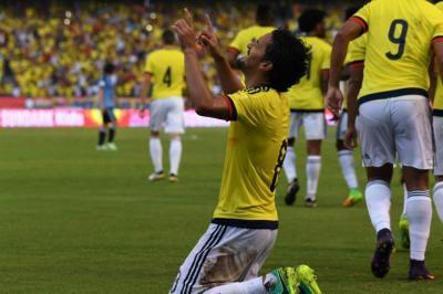 Las mejores imágenes del encuentro entre Colombia y Uruguay