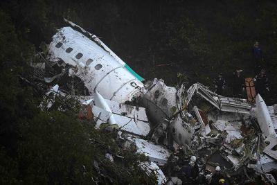 Así quedó el avión siniestrado en el que viajaba el equipo de fútbol Chapecoense