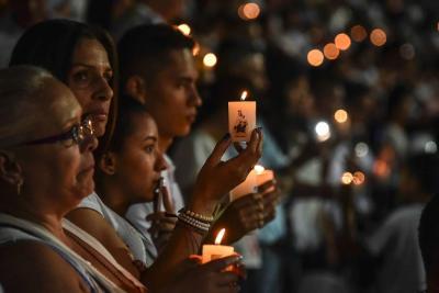 Imágenes del solemne tributo que se hizo al Chapecoense en Medellín