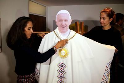 Imágenes de los preparativos para la llegada del Papa Francisco a Colombia