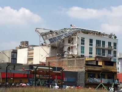 Así quedó México tras el fuerte terremoto de 7.1