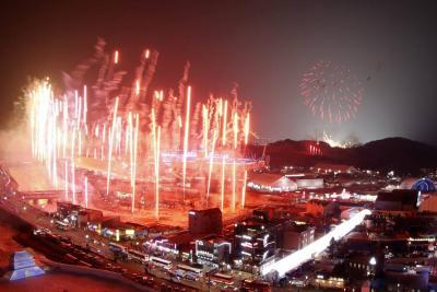 Imágenes de la ceremonia de apertura de los juegos Olímpicos de Invierno 2018