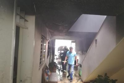 Se incendió vivienda mientras sus residentes asistían a una misa en Bucaramanga