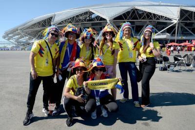 Así se vive la fiesta 'tricolor' por el partido Colombia- Senegal