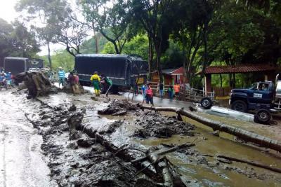 Las imágenes de la emergencia por lluvias en San Gil