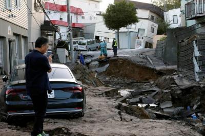 Un fuerte terremoto de magnitud 6,7 en la escala de Richter sacudió esta madrugada la isla nipona.