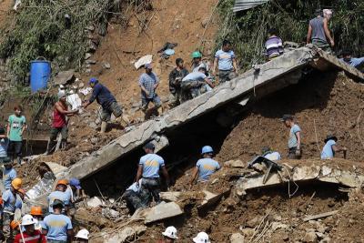 Dramáticas imágenes del paso del tifón Mangkhut en Asia