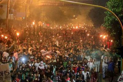 En imágenes: Así se vive la 'marcha de las antorchas' en Bucaramanga
