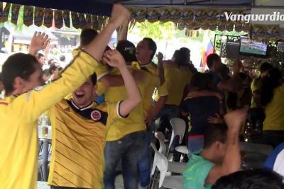 Bumangueses gozaron el triunfo de la Selección Colombia