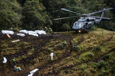 Impactante video muestra surco que dejó el avión del Chapecoense al estrellarse