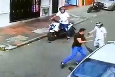 Video registró como hurtan $5 millones en Bucaramanga y le disparan a la víctima