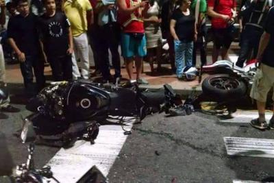 Accidente con motos de alto cilindraje por poco genera tragedia en Bucaramanga