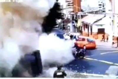 Video registró momento de explosión en Bogotá que dejó cerca de 40 heridos