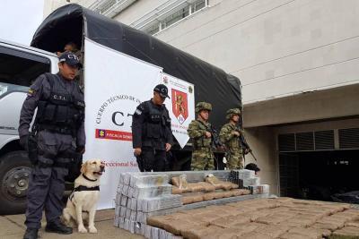 Incautaron 89 kilos de marihuana en Girón