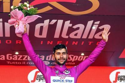 Esta semana Gaviria tendrás tres oportunidades más de subirse al podio en el Giro