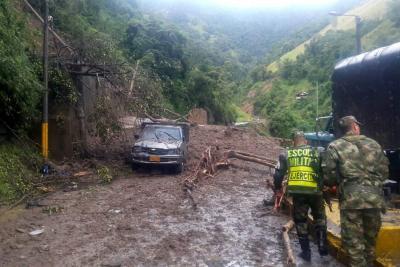 Emergencia en Tolima por deslizamientos y derrumbes