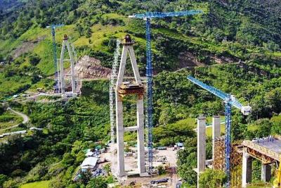 En Santander se construye el puente más alto de Colombia