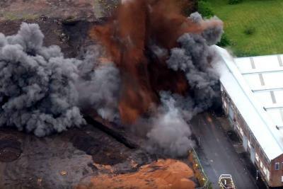 Video registró detonación de bomba de la Segunda Guerra Mundial