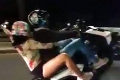 Ahora transmiten en directo maniobras peligrosas en moto en Bucaramanga
