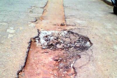 Comunidad de Santa Ana pide a Empas el arreglo de vía