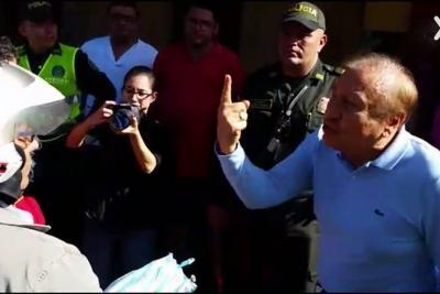 """""""Para qué para ahí…"""": La discusión entre el Alcalde de Bucaramanga y un infractor"""
