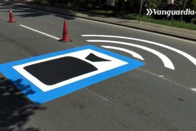Pintan señales para evitar que usted reciba una fotomulta en Floridablanca