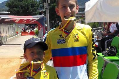 Cuatro santandereanos se vistieron de 'Oro' en Gran Nacional de BMX