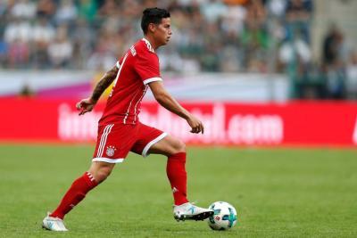 Así debutó James y ganó su primer título con el Bayern