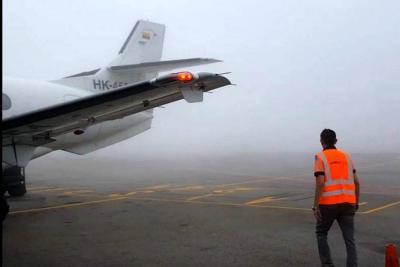 Tras cierre por mal tiempo, reactivan operaciones en el Aeropuerto de Bucaramanga