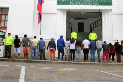 Video registró captura de banda que vendía brownies de marihuana en Bucaramanga
