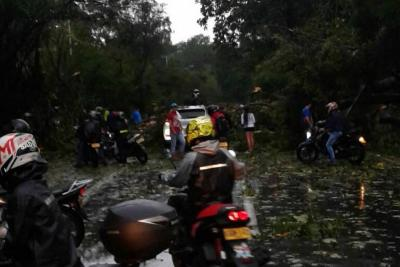 Alerta por inundaciones y caída de árboles tras fuerte lluvia con granizo en Piedecuesta