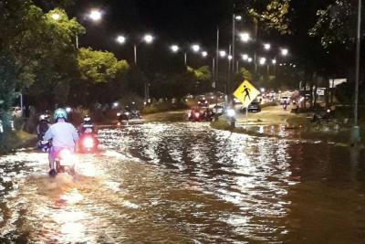 El sábado cayó en Piedecuesta el agua que llueve en Bucaramanga en mes y medio