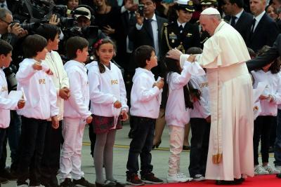 Así fue la llegada del Papa Francisco a Colombia