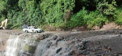 Fuerte aguacero dejó incomunicado al municipio de Galán, Santander