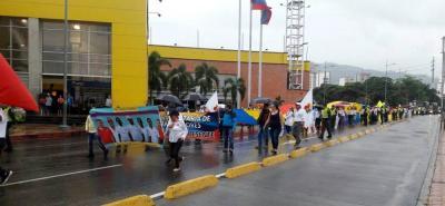 Así transcurrió la marcha de la salud en Bucaramanga